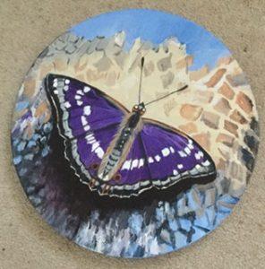 Purple Emperor Butterfly, Acrylic