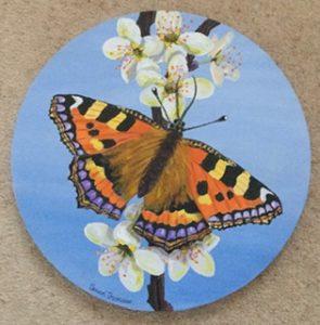 Small Tortoiseshell Butterfly, Acrylic