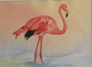 Flamingo, Watercolour