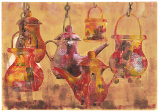 Pots on Hooks, Limited Edition Giclee Print